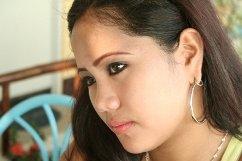 worried woman, filipina